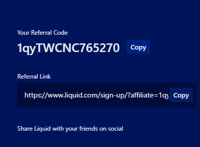 liquid referral code